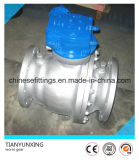 Worm Gearbox Full Bore Port Flanged Cast Steel Ball Valves
