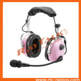 Pink Heavy Duty Headset with Boom Microphone for Two Way Radio