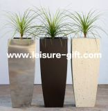 Fo-9034 Conical Stainless Steel Square Garden Flower Pot