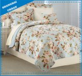 Rose Garden Printed Polyester Quilted Bedding Set