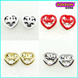 Fashion Custom Heart Women Jewelry Stud Earring
