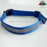 Reflective Nylon Dog Collar with Reflective Stripe