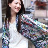 Digital Printed Silk Scarf (12-BR110303-8)