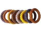 Fashionable Telephone Cord Hairbands with Glitter and Yard Covered
