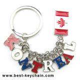Souvenir Gift Canada Flag Manufactory Montreal Metal Letter Keyring (BK8284)
