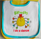 OEM Produce Customized Design Printed Saturday Cotton Terry Baby Feeder Apron Bib