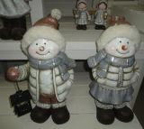 Polyresin Snowbabies Figurine Holding Candle Lantern Solar Lantern Christmas Gift