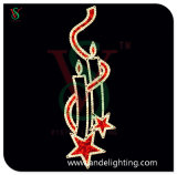 LED Christmas Candle Motif Light for Pole Decoration
