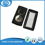 Chrome Plating Metal Keychain with Supermarket Shopping Trolley Token Cons