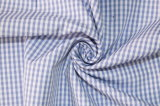 Skyblue/White Classical Checks Plain Polyester Cotton Shirt Fabric