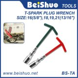 Plastic Handle T-Spark Plug Wrench for Wheel