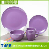 Plum Moon Shape Ceramic Dinner Set (15032104)