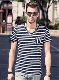 Men′s New Fashion Sea Striped T-Shirt
