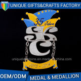Newest 2D Metals Medal with Customized Ribbon on Sales