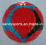 Shine PVC Leather Machine-Sewn Promotion Soccer Ball Football