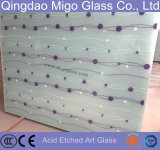 5mm Art Decorative Acid Etched Frosted Glass Plate