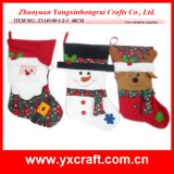 Christmas Decoration (ZY14Y40-1-2-3) Christmas Sock Gift Christmas Promotion
