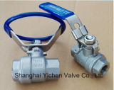 Sanitary Stainless Steel Two Piece Threaded Ball Valve with Oval Handle (2WQ11F)