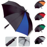 Automatic Open Windproof Black and White Golf Umbrella (FS-64001)