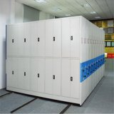 Well Organized High-Density Space-Saving Mobile Shelving for Library School or Bank
