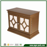 Classical Square Brown Wooden Jewelry Box