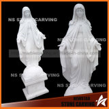 Natural White Marble Carving Hail Mary Figure of Buddha