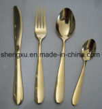 Chinese Design Stainless Steel Rose Gold Dinnerware Cutlery Set Sx-Rg006
