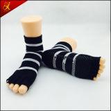 Five Toe Anti-Slip Cotton Yoga Socks