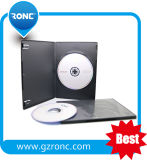 7mm Black Rectangle Single Double DVD Case with Transparent Film