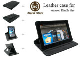 Rotary Leather Case for Kindle Fire, Various Colors Are Available, Easy Installation