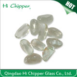 Amber Cashew Shape Glass Gemstone for Fire