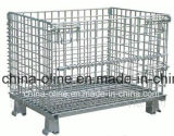 Stackable Folded Steel Wire Mesh Container
