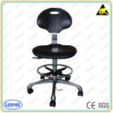 Height Adjustable ESD Leather Chair with Foot Ring
