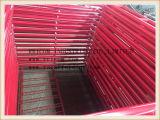 Red Painting Walk Thru Type Scaffolding Frames