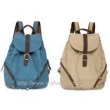 Fashion Canvas Casual School Backpack for Children (MH-5016)