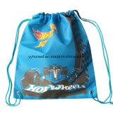 Custom Cheap Polyester Backpack Promotional Drawstring Bag
