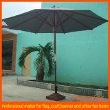 Cheap Pure Colorful Wooden Stick Garden Umbrella