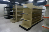 Adjustable Supermarket Metal Perforated Panel Double Sided Gondola Shelf