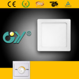 Dimmable 12W Square Super Slim Recessed Mounted LED Panellight