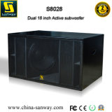 Professional Dual 18 Inch High Powered Active / Passive Subwoofer Speaker