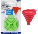 Icicle Green Silicone Collapsible Funnel Foldable Funnel for Liquid Transfer