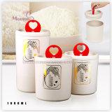 BPA Free Round Wheat Fiber Moisureproof Milk Powder Airtight Canister