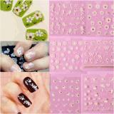 3D Butterfly Lace Flower Water Transfer Nail Art Sticker Nail Sticker