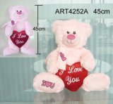 Pink Bear Carrying Red Heart-Valentine Gift
