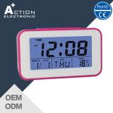 Cute Design Digital Alarm Desktop Clock with Calendar and Temperature