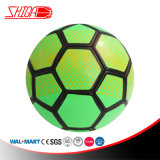 PVC Green Color Machine Stitched Soccer Ball