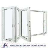 Waterproof Interior Bifold Doors Frosted Folding Internal Door with As2208