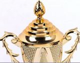 Small Size Gold Trophy for Bridge Tournament Second Runner-up