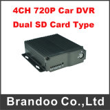 720p Car DVR Support Dual SD Card Type for Mobile Taxi Bus