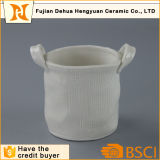 Ceramic Basket design with Handle Plant Pots